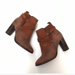 NDC Made By Hand Ankle Boots Brown Size 40